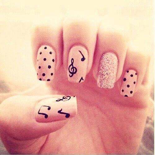 Music forever #nails #nailart
