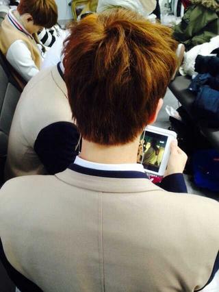 In A Pique The Back Of Member S Heads Altogether Jimin S Fancafe Post Bts Jimin Bts Jin Kim Seokjin