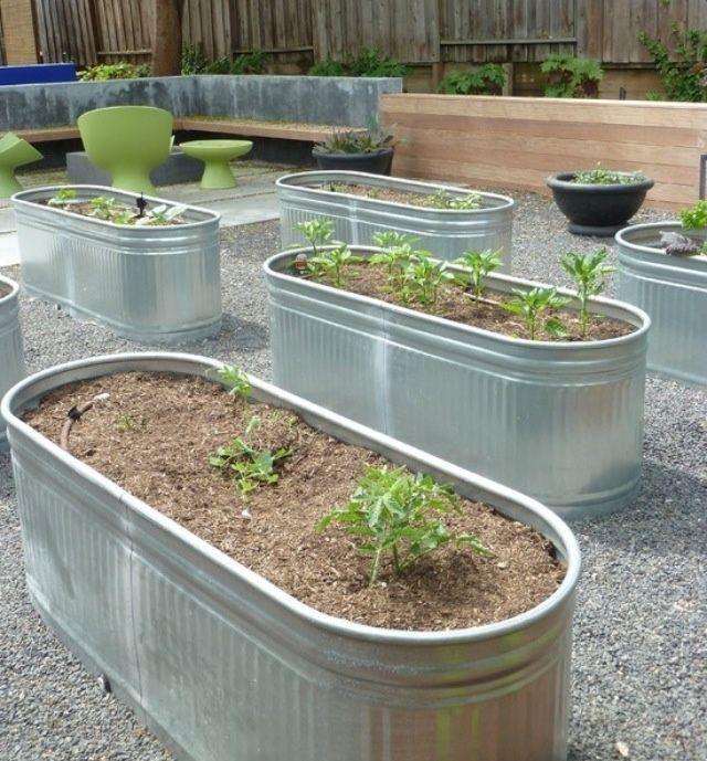 Galvanized Water Trough Search Results Diy Raised Garden Above Ground Garden Country Garden Design