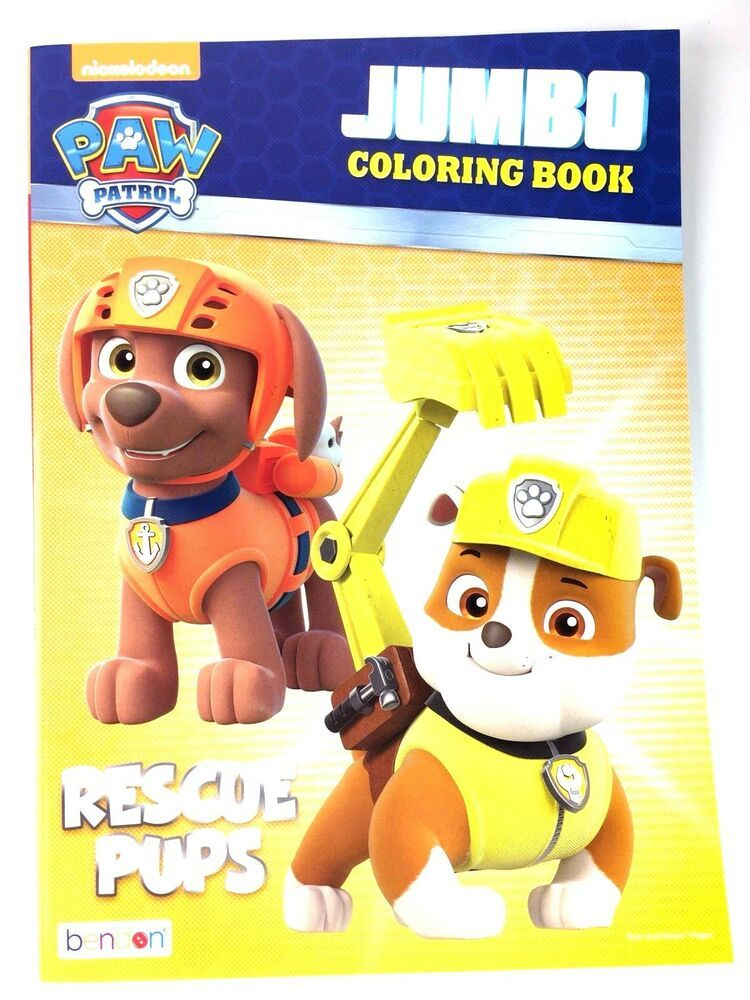 Paw Patrol Rescue Pups Nickelodeon Jumbo Coloring Activity