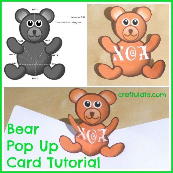 Bear Pop Up Card Tutorial   Card tutorials, Bears and Teddy bear