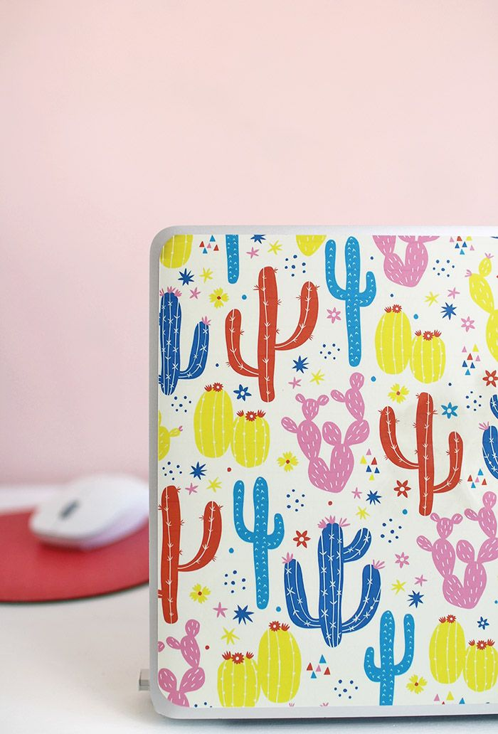 Laptop Skin with Printable Adhesive Vinyl Crafty Projects DIY