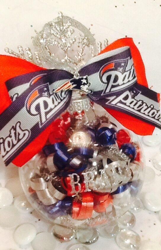 new england patriots personalized christmas ornament  newenglandpatriots