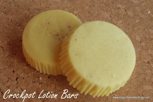 Miss Information: Crockpot Lotion Bars
