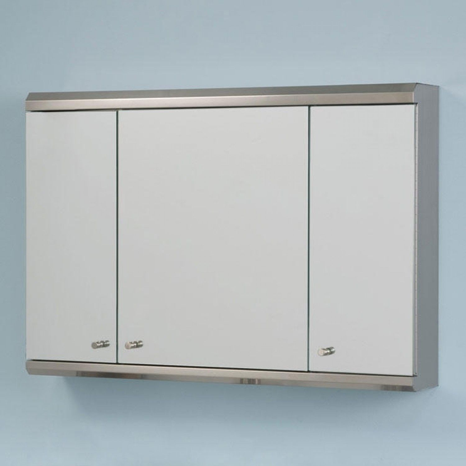 Cosmopolitan Stainless Steel Tri View Medicine Cabinet With Mirror