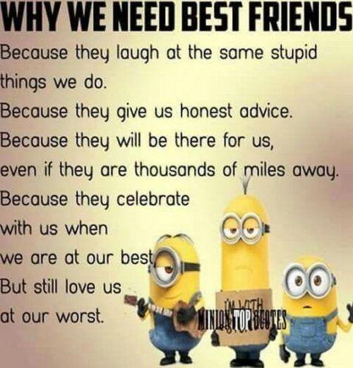 35 Best Hilarious Minions Memes Friends Quotes Funny Minions Funny Best Friend Quotes Funny