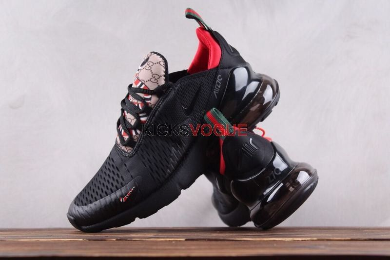 quality design e25f3 33d8a Custom Nike Air Max 270 Gucci KingSnake GG Black Red