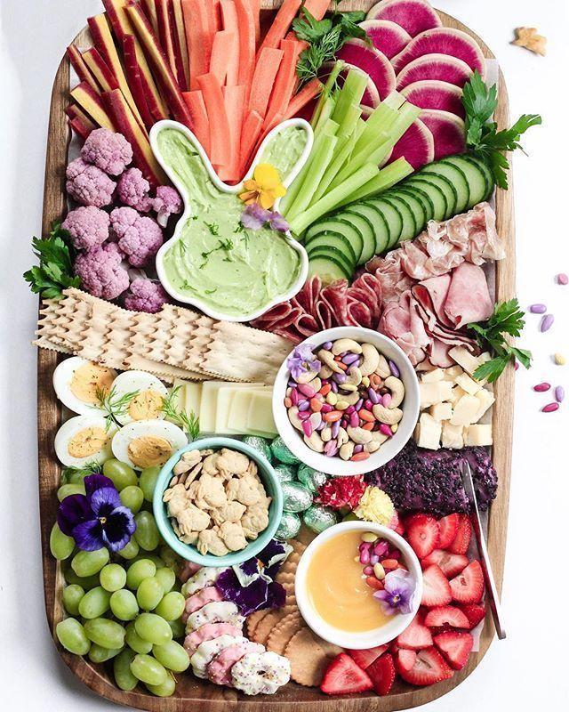 Photo of KINDERFREUNDLICHER OSTER / FRÜHLING SWEET & SAVORY SNACK PLATTER | Gesunde Fami… – easter recipes appetizers
