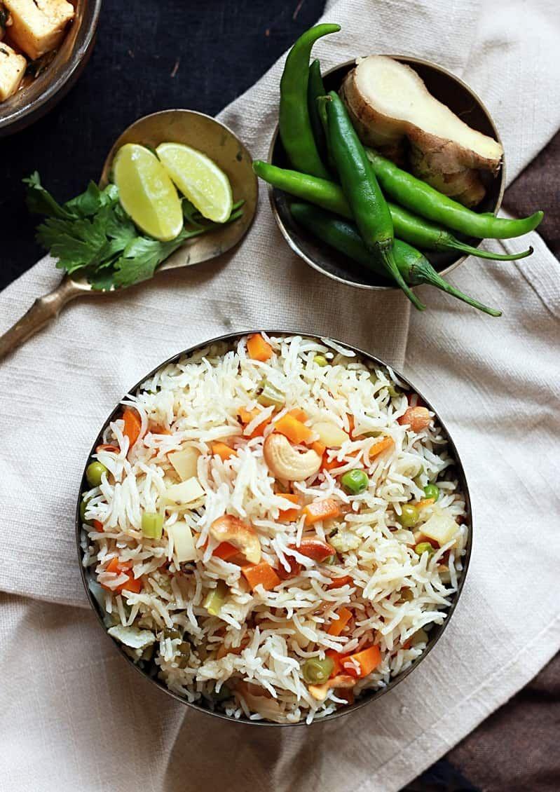 Easy and tasty veg pulao. Homemade vegetable pulao! recipe ...