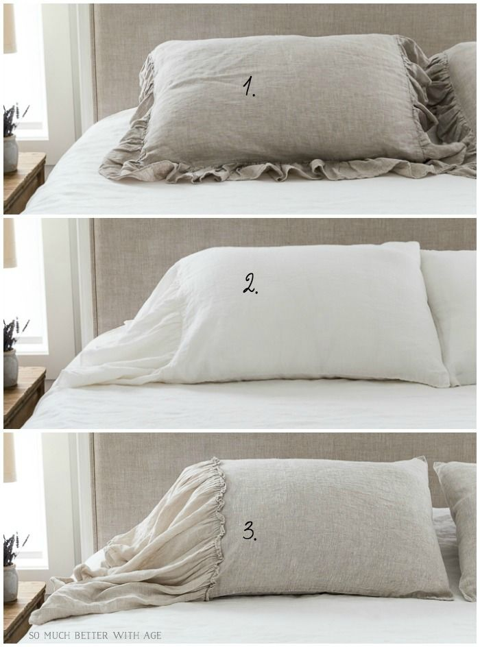 French Vintage Linen Bedding For The Master Bedroom I M Reviewing 3 Pillow Shams A Soft Country Style