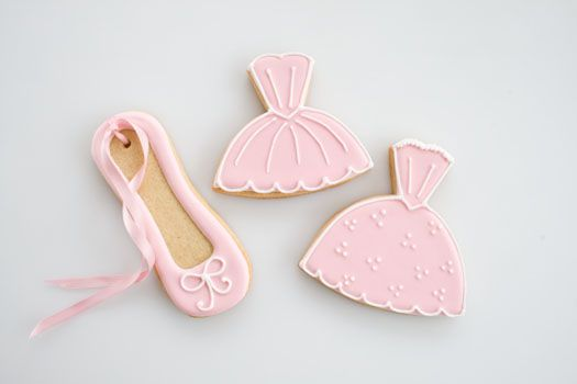 Ballerina cookies with royal icing