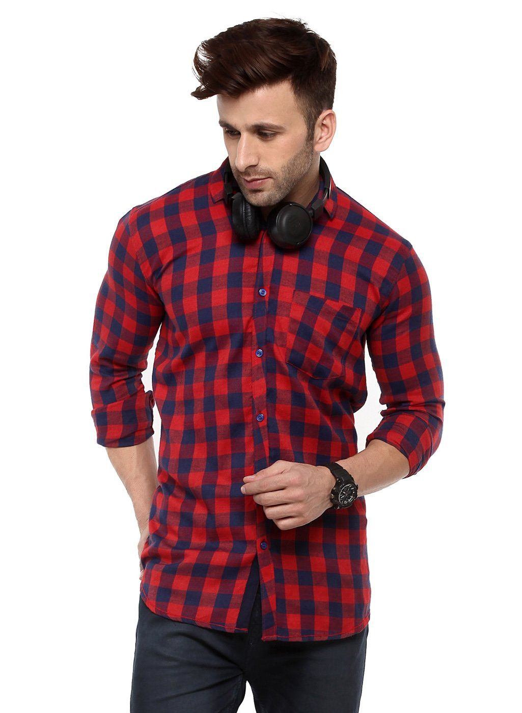 b1ae1f628b0 Buy Hangup Red men shirt Online at Low prices in India on Winsant