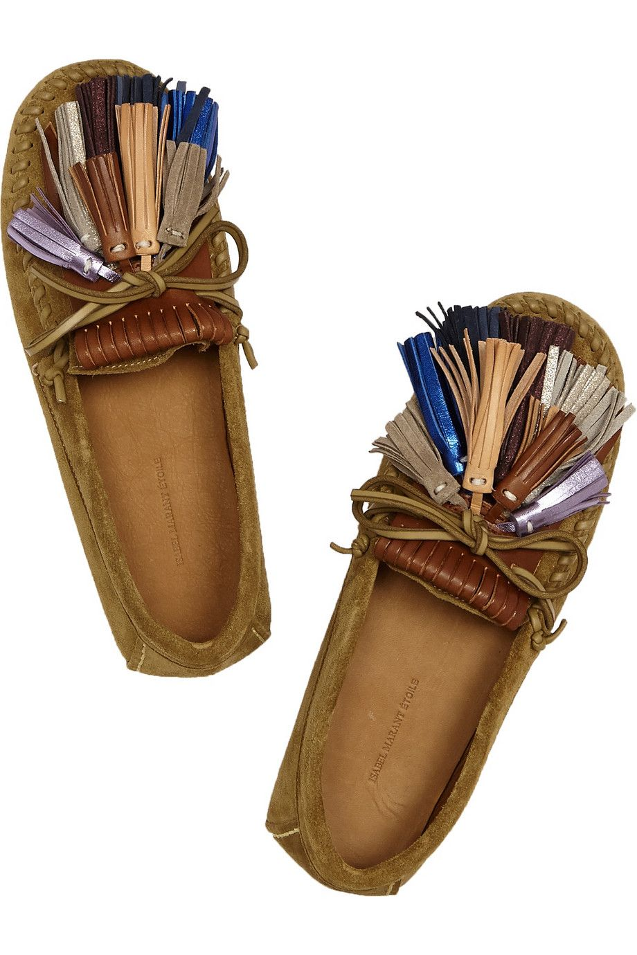 276221277a isabel marant étoile maple tasseled suede moccasins } | ˗ˏˋ ...