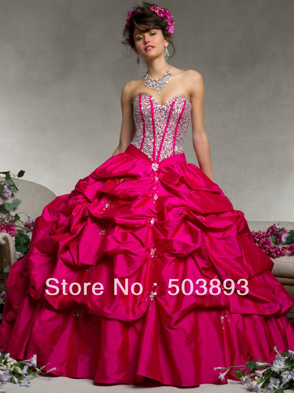 Free-shipping-masquerade-ball-gowns-crystal-hot-pink-quinceanera ...