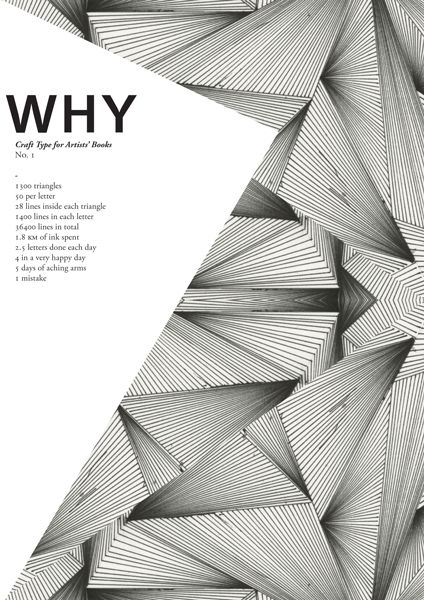 Why, proposal no 1 Craft Type for Artistsu0027 Books Art Union - proposal cover page design
