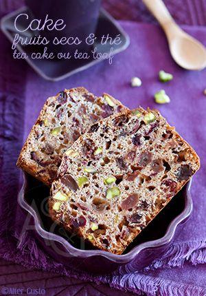 cake aux fruits secs & thé - dattes, raisins, cranberries - tea