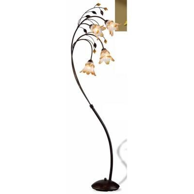 Bronze Windance Floral Floor Lamp OK 9143 At The