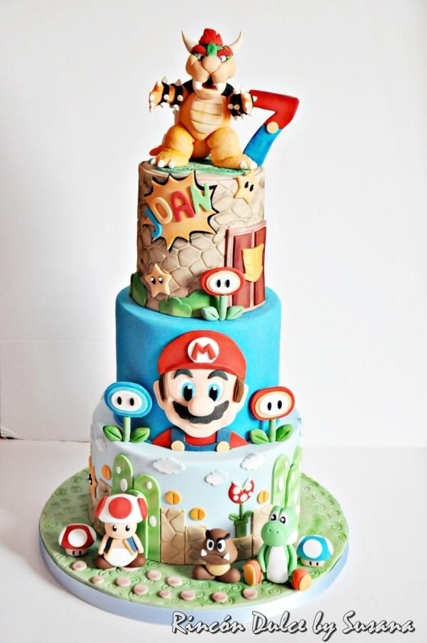 Super Mario Cake Tarta Super Mario By Rincondulcebysusana Cake