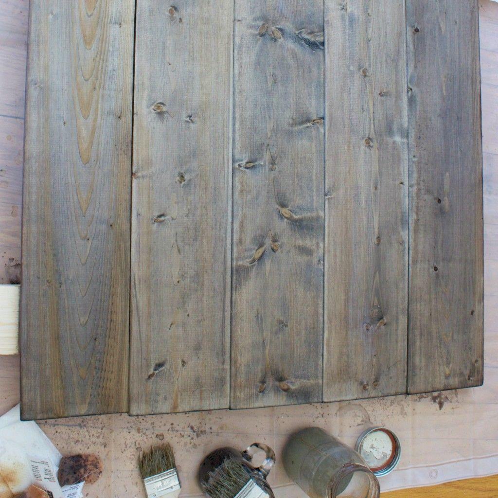 Aging Wood With Steel Wool Vinegar And Tea In 2019