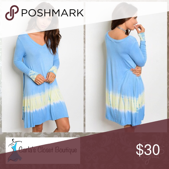 Blue and yellow boutique dresses