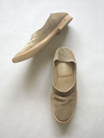 kip velour slip-on shoes