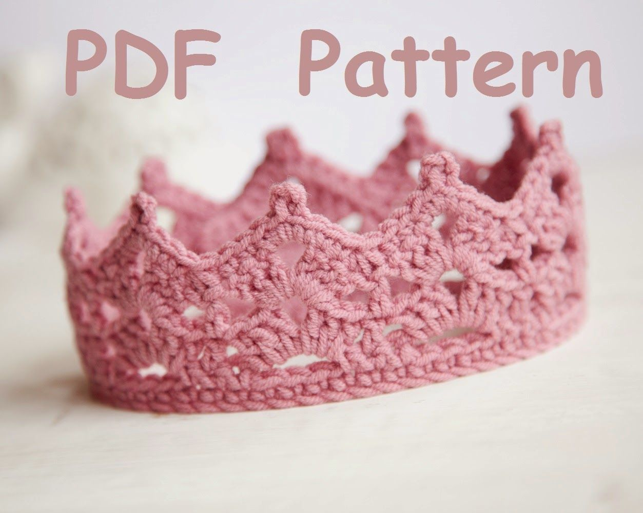 birthday crown hat crochet pattern - Google Search Crochet Crown Pattern 1367d539efe