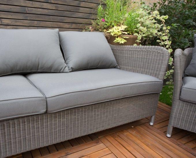 Szary Zestaw Wypoczynkowy Technorattan Monaco Zestawy Technorattan Ogrodowy Salon Outdoor Furniture Outdoor Decor Outdoor Sofa