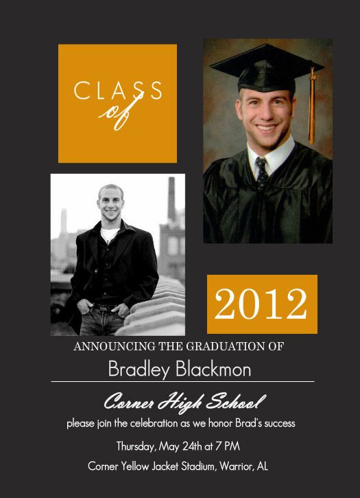 FREE SHIPPING Announcement  Digital or Printed Invitation Simple and Classic Photo Graduation Card- College or High School