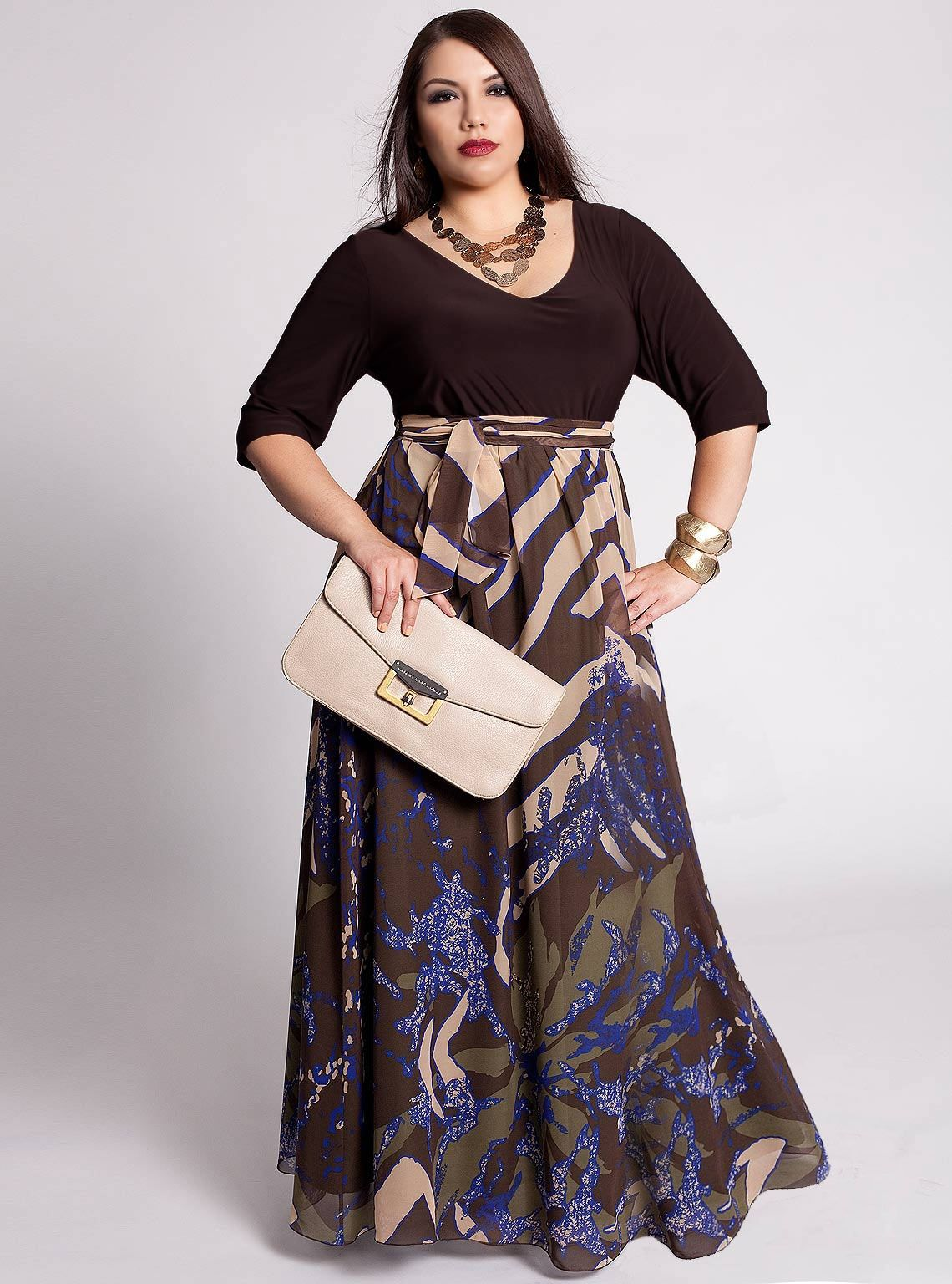 Plus Size Maxi Dresses With Sleeves