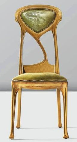 guimard art nouveau chaise haut dossier 1900 unique chairs pinterest art deco art. Black Bedroom Furniture Sets. Home Design Ideas