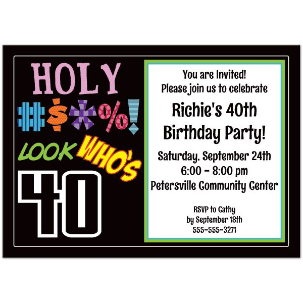 Download 40th Birthday Party Invitations Templates This Invitation For FREE At