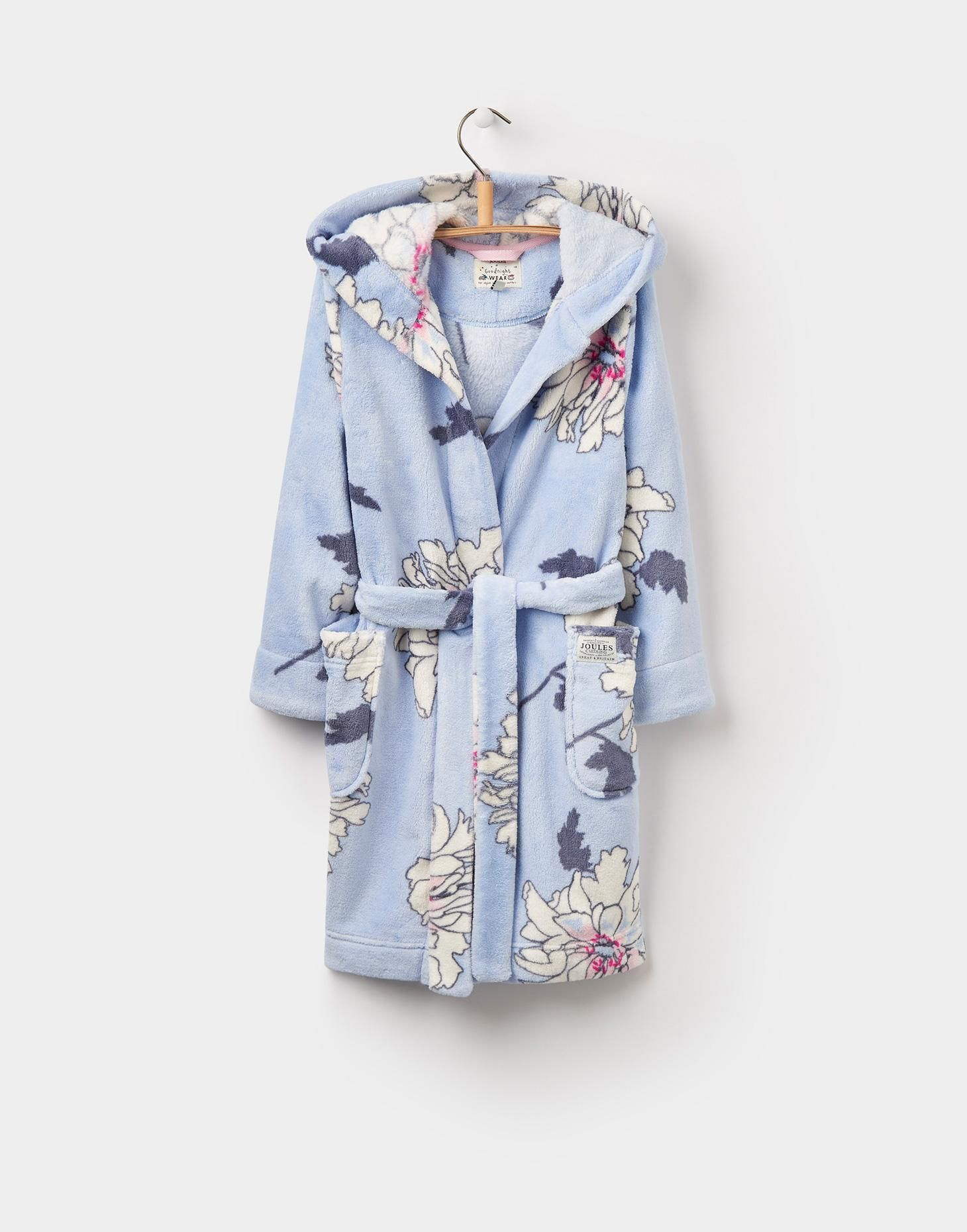 NUTKIN Printed Dressing Gown 1-12yr | Blue peonies, Peony print and ...