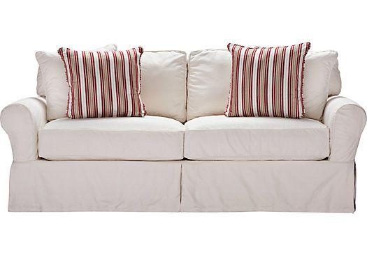 Shop For A Cindy Crawford Home Beachside White Denim Sleeper At