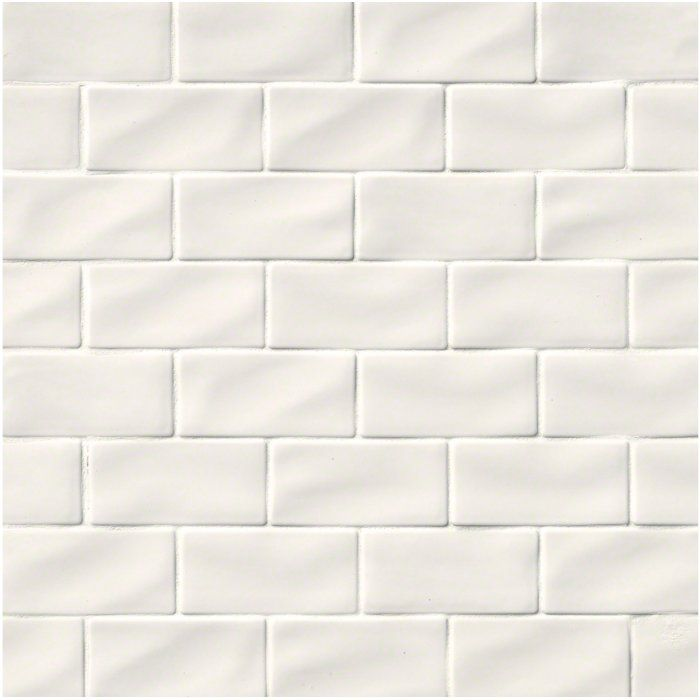 3 X 6 Ceramic Subway Tile In Whisper White Tile Pinterest