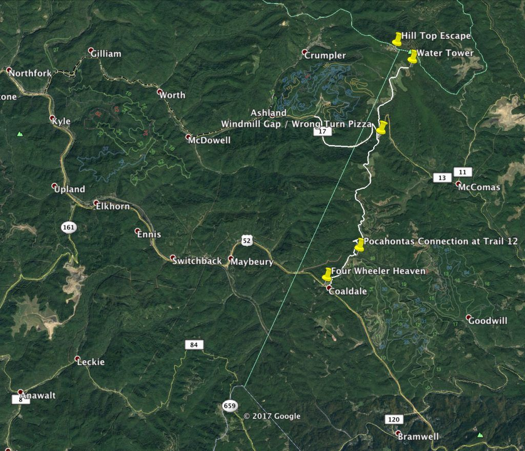 On Hatfield Mccoy Trails Updated Trail Maps The Pocahontas Indian Ridge Connector Trail 15 As Well As Several Indi Four Wheeling Four Wheelers Atv Riding