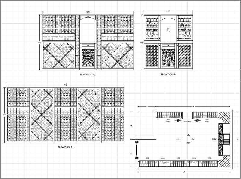 Wine Cellar Design Plans | Wine Cellar Design Ideas  sc 1 st  Pinterest & Large sized wine room sample design for 1400 wine bottles | Wine ...