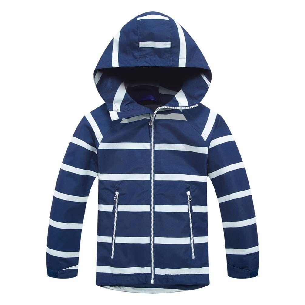 Kids Rain Jacket Fleece Lined Windbreaker Boys Light Jacket Reflective Dark Blue C318lg7hdr0 Kids Rain Jackets Kids Outerwear Boys Coat [ 1005 x 1005 Pixel ]