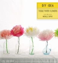 Tissue paper flowers diy