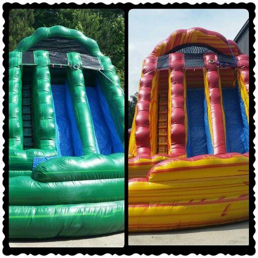 Inflatable Slide Rental Atlanta: 18ft Lava Rush Inflatable Waterslide And 18ft Kiwi Crush