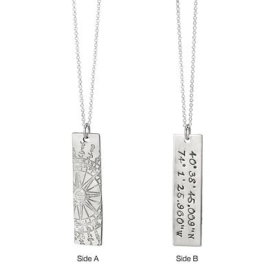 Latitude Longitude Necklace helps keep your special place close to your heart