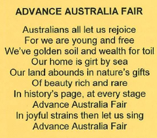 Advance Australia Fair - Wikipedia