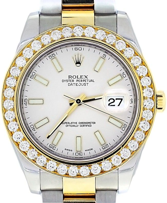 rolex datejust 41mm two tone