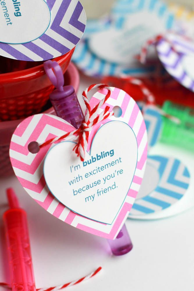 easy valentines day bubble favors printable - Valentine Ideas For Classmates