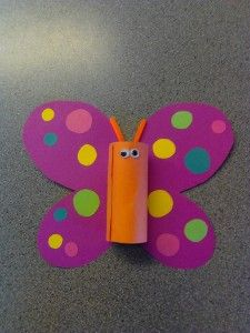 Homemade Butterfly Paper Butterfly With Dots Kids Crafts Easy