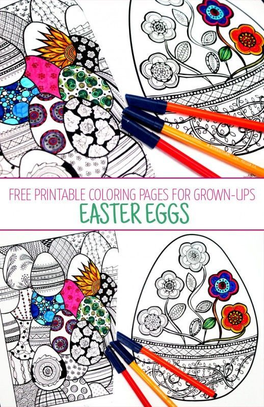 Easter Coloring Pages for Grown Ups | Laminas para colorear ...