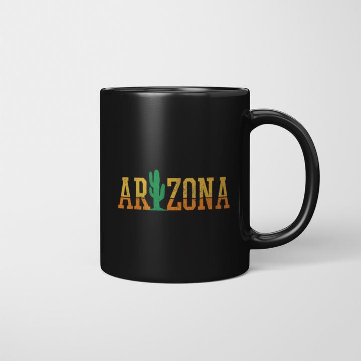 Arizona Cactus Vintage Retro Pride Souvenir Gift Mug - Mug Stay #arizonacactus