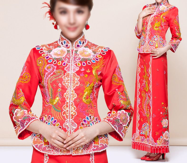 kwa qun,Traditional Chinese Clothing Red Chinese Style Marriage ...