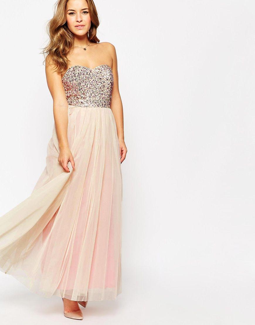 Image 4 of Maya Petite Embellished Bodice Tulle Maxi Dress