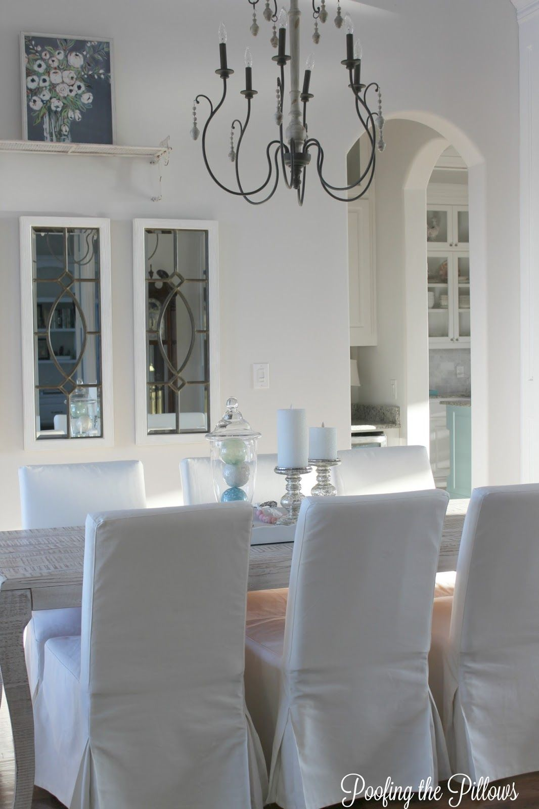 Our Dining Room Update Light Blue And White Dining Room Blue Simple Blue White Dining Room Design Ideas