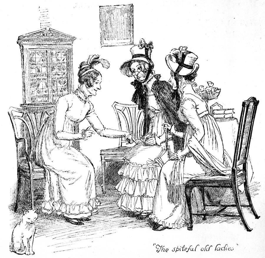 Scene from pride and prejudice by jane austen drawing for Jane austen coloring pages